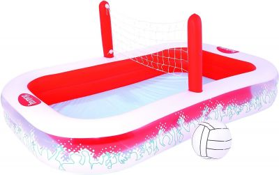 Piscina hinchable c/red voleibol 254x168