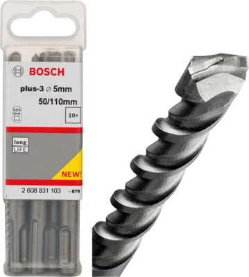 Bosch Broca SDS Plus-3 05X100X160 10 Unidades